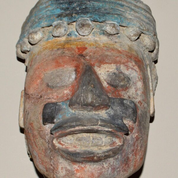 Mask made of pottery, Mexico. Am1856,0422.66