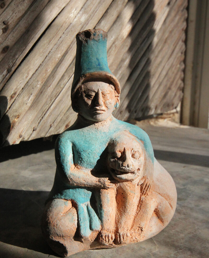 Pottery figure painted with Maya Blue ©Luis May