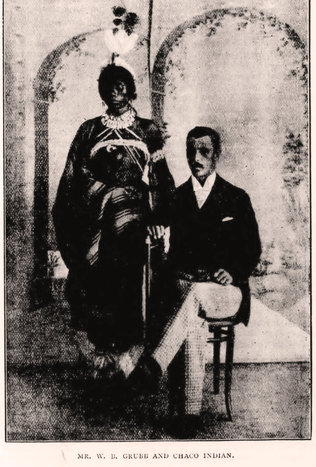 'Mr. W.B.Grubb and Chaco Indian' SAMS Magazine, 1896.